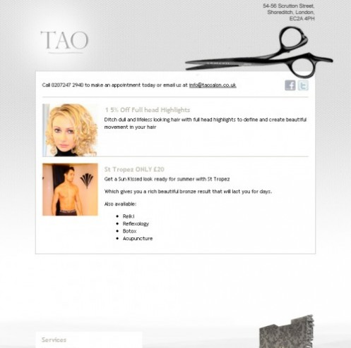 January launch of Tao Salon